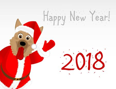 New Years card in the year of the dog Illustration