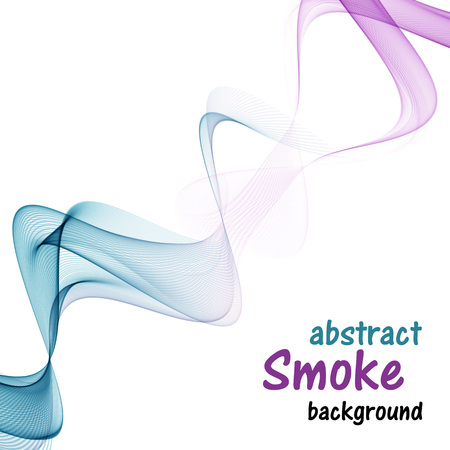 Abstract colored smoke on a white background. Illustration
