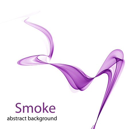 Abstract colored smoke on a white background Illustration