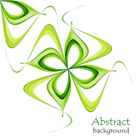 Abstract spring background with abstract greens on a white background Illustration