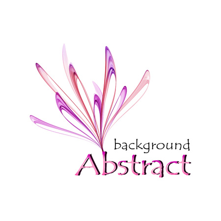 Abstract logo in the form of a pink and purple flower