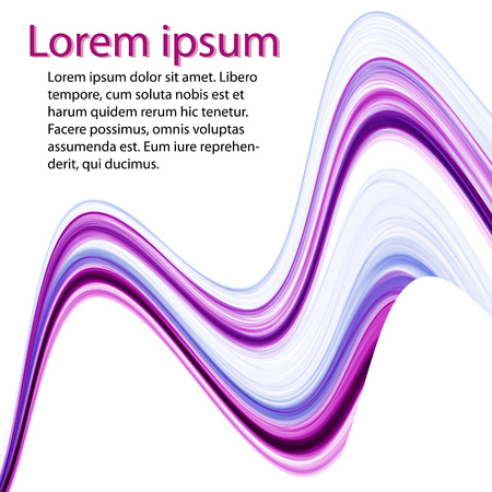 Abstract bright blue and purple waves on white background Archivio Fotografico - 122680220