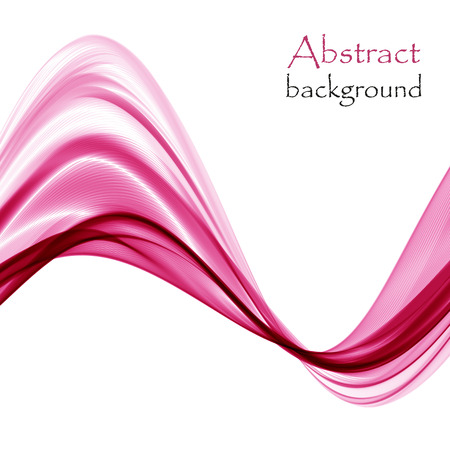 Abstract bright pink waves on a white background Ilustrace