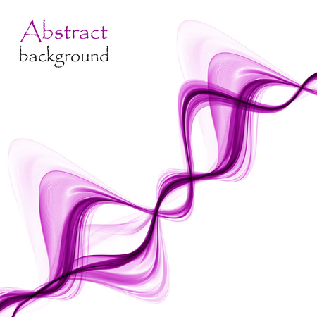Abstract bright purple waves on a white background