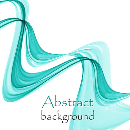 Abstract turquoise waves on a white background Ilustrace
