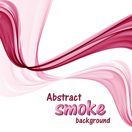 Abstract pink waves on a white background Ilustrace