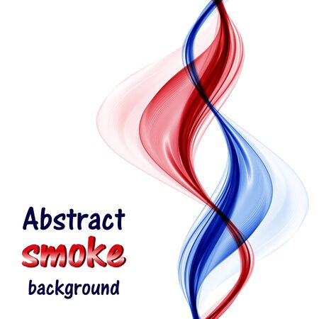 Abstract red and blue waves on white background Ilustrace