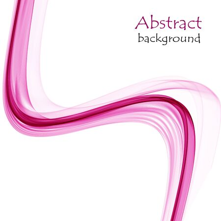 Abstract colorful waves on white background Ilustrace