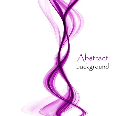 Bright purple abstract waves on a white background Ilustrace