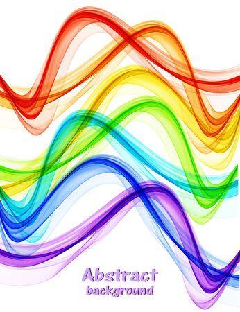 Abstract bright rainbow color waves Archivio Fotografico - 128368953