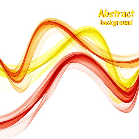 Abstract bright waves on white background Archivio Fotografico - 128368973