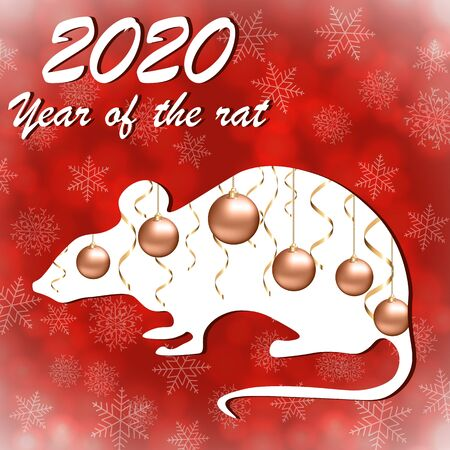 New Year's card in the year of the rat Archivio Fotografico - 131529731