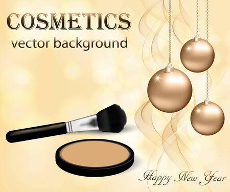 Christmas and New Year makeup kits Vettoriali