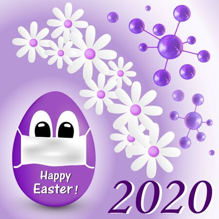 Greeting cards Happy Easter 2020