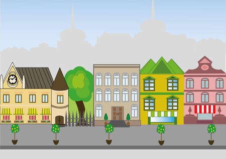 an old European city street