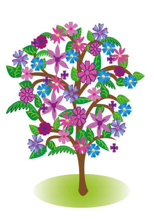 Vector drawing - in the colors of the tree Stock Vector - 13703109