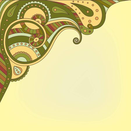 ethnical: Vector background with abstract ornament