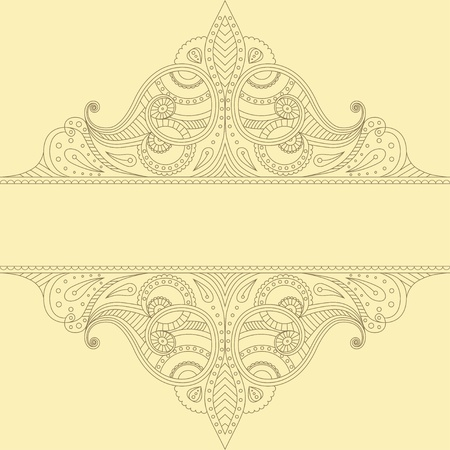 ethnical: linear ornament with place for text Illustration