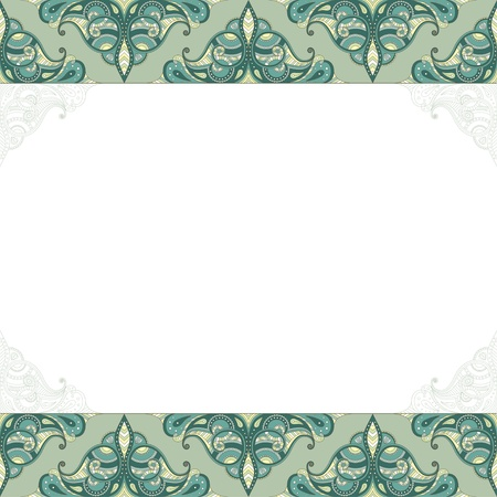 place for text: ornamental background with place for text  Illustration