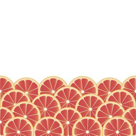 frutoso: Fundo frutado, com fatias de toranja