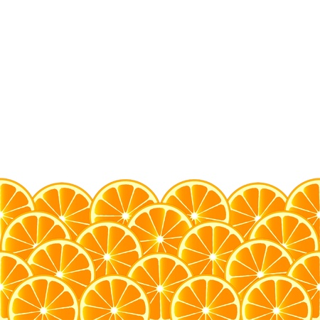 fruity: Fruity background with orange slices