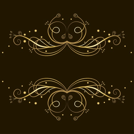 whorl: Decorative gold  tracery with place for text