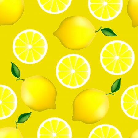 fruity: Citrus seamless pattern with lemons  Fruity texture