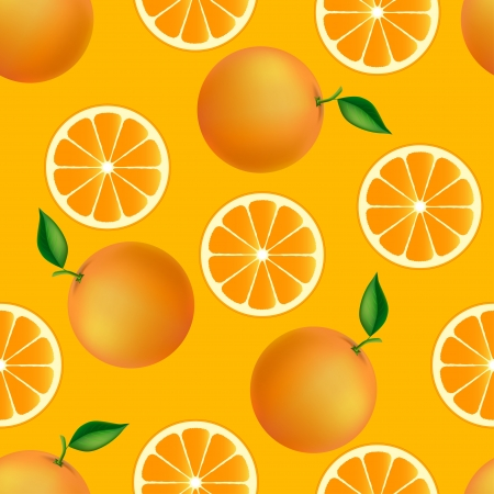 ripened: Citrus seamless pattern with oranges  Fruity texture