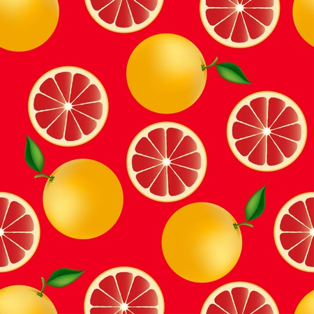fruity: Citrus seamless pattern with grapefruits Fruity texture