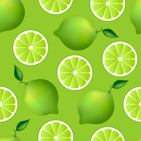 fruity: Citrus seamless pattern with limes  Fruity texture