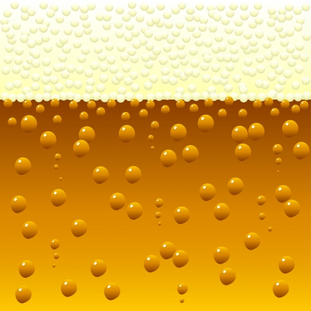 horizontally: Horizontally seamless bubbling beer background  Vector illustration  Illustration