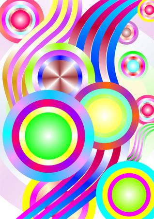 phosphorescence: Never Worlds series. Backdrop of colorful dimensional fractal worlds  Illustration
