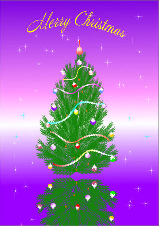 best Christmas tree background Vector