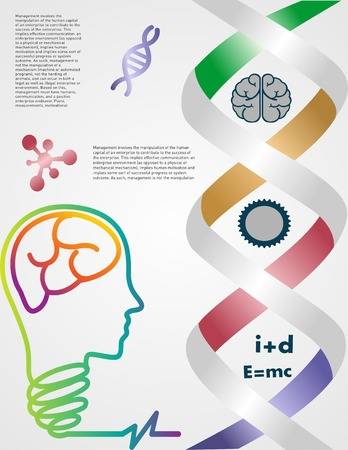 symbols info graphic science, with line green and sulfur color Vector
