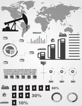 infochart: Detail infographic illustration. and Information info Graphic Illustration