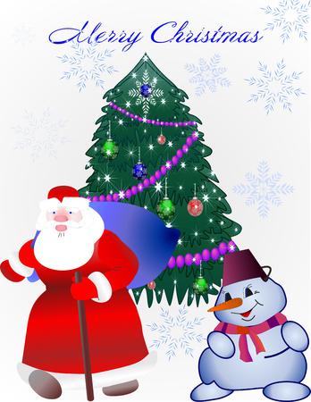 st  nick: Santa Claus  Christmas tree snowman toy bag