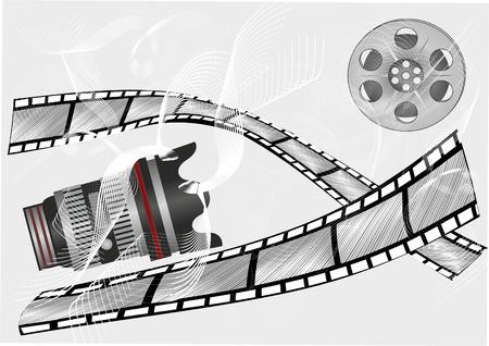 cinema screen: film strip roll set,Grunge at cinema,Cinema theme background