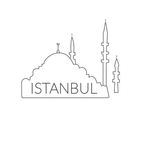 Welcome to Turkey, Istanbul. Icon, Istanbul logo on a white background. Hand drawing 일러스트