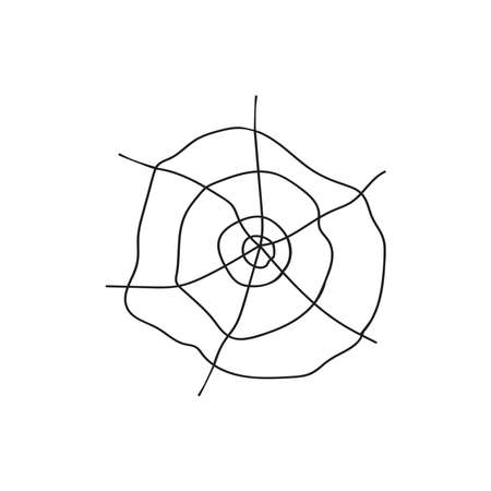 Black web isolated on a white background. Concept Of Halloween. Paraphernalia, the symbol of the holiday.