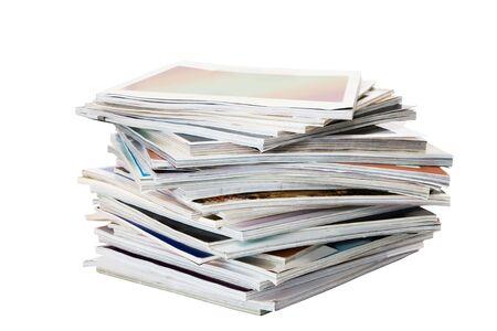 batch: Lote de revistas aisladas en blanco