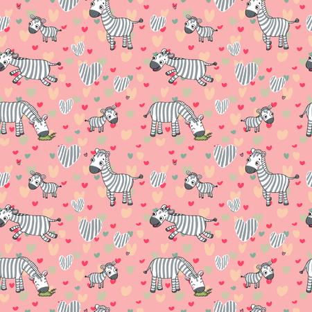 surprisingly: Funny cute cartoon zebra and their children