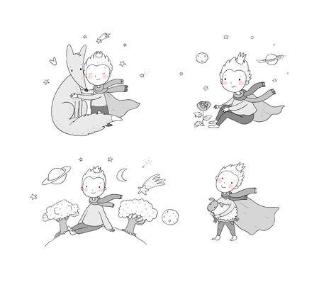 Le Petit Prince.Un conte de fées sur un garçon, une rose, une planète et un renard.