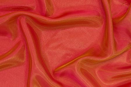 chatoyant: drape orange organza Stock Photo