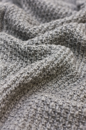gray knitted fabric Stock Photo