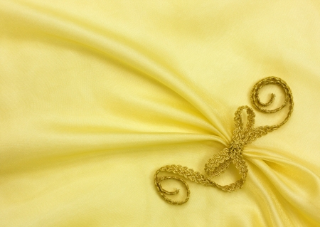 organza: background of golden organza draping