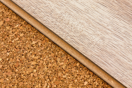flooring cork: laminate on a layer of cork