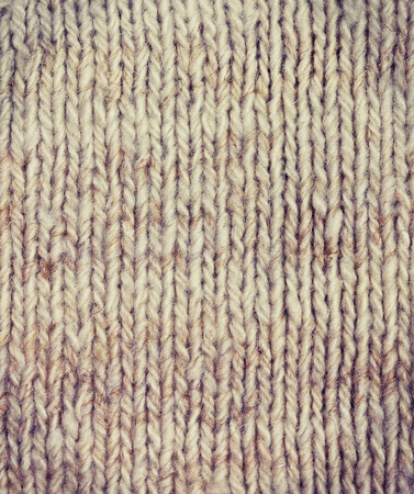 background of knitted fabric of wool yarn (vintage style) Stock Photo