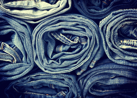 cotton  jeans: denim background Stock Photo