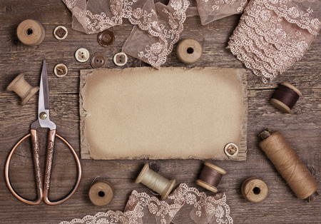 old tools: old tools for needlework vintage style (toning)