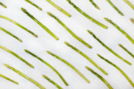 Fresh green asparagus on a light Stock Photo